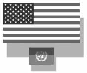 graphic of US and UN flags