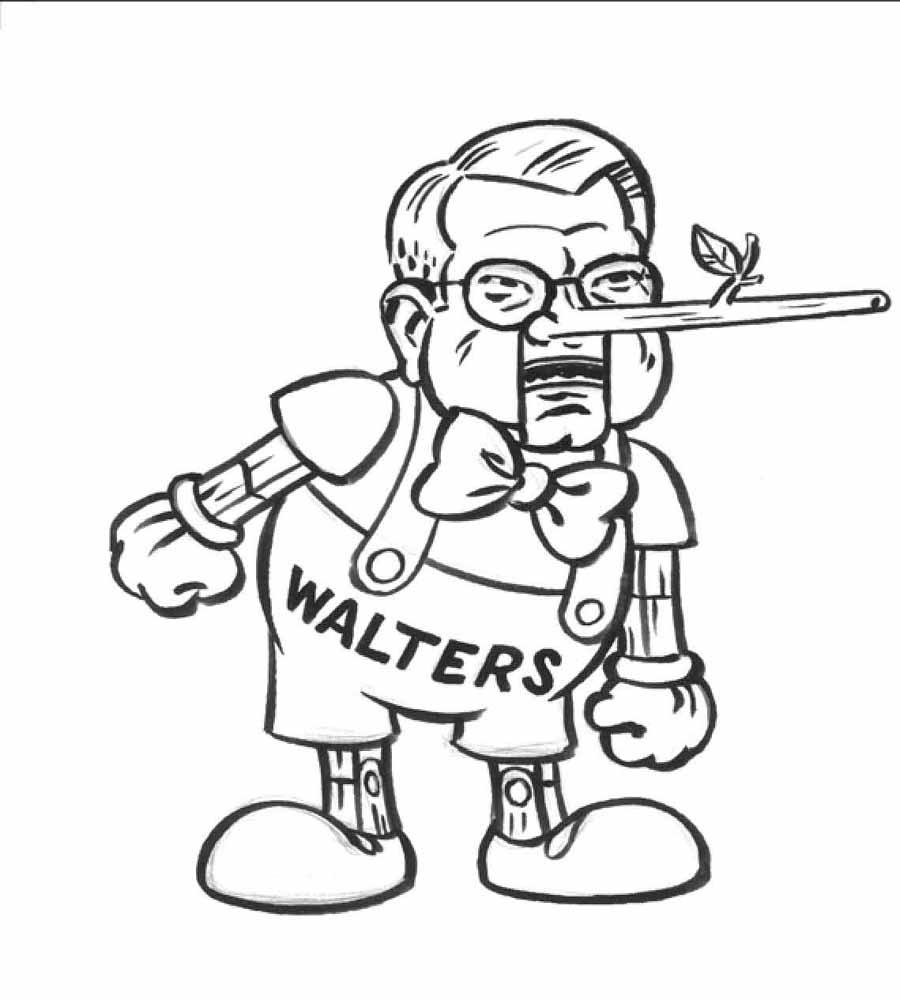 Czar Walters as Pinocchio